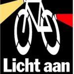Verlichting aan op de fiets !